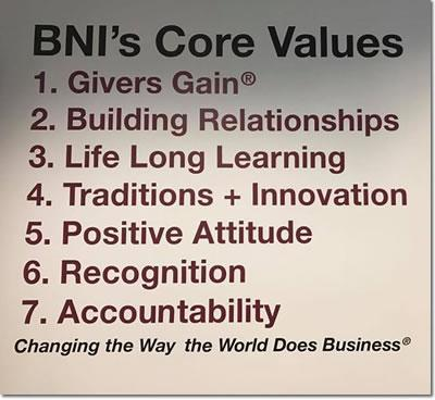 BNI El Paso Texas Core Values